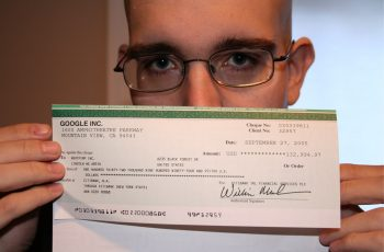 google adsense cheque shoemoney